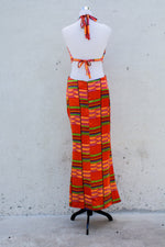 SBG COLLECTION Long Dress Silk Orange