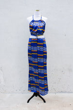 SBG COLLECTION Long Dress Silk Blue