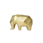 Nassara Design Bronze Statue Elephant Gold Small