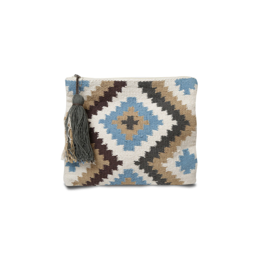 Belle & Toile Indiana Clutch Blue Sand