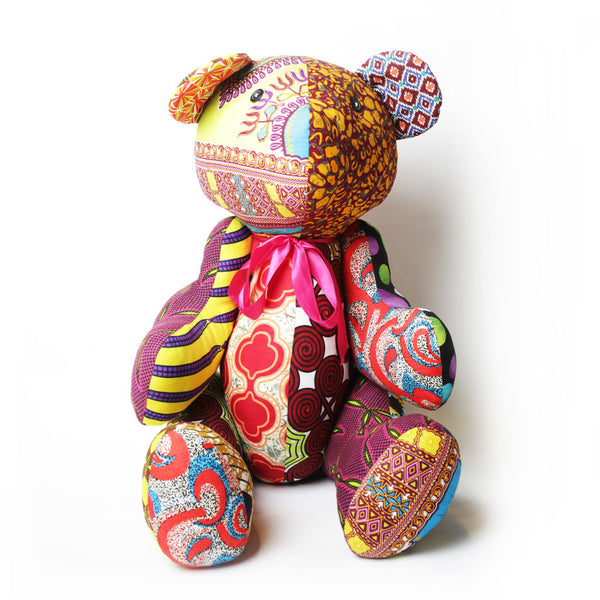 Nassara Design Teddy Bear Patchwork African Fabric.
