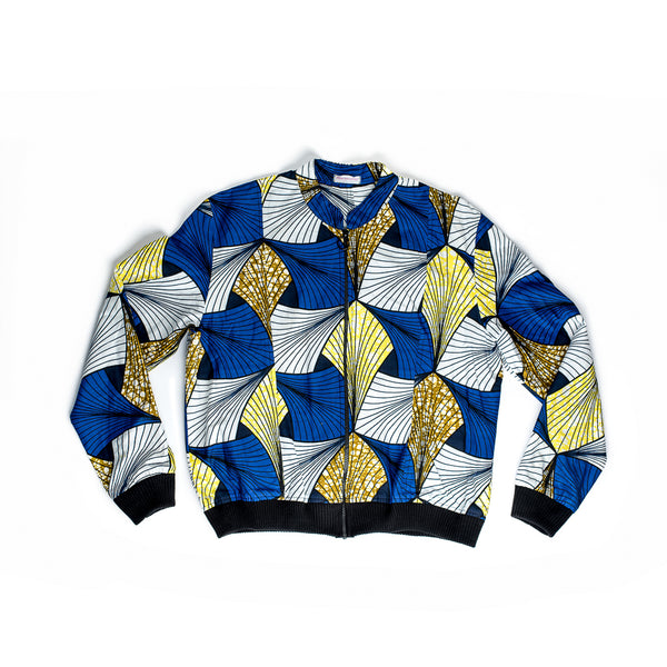 Margouillat Couture Jacket Men Bombwax Blue Yellow