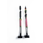Iniva Statue Couple Wood Pearl Green & Pink