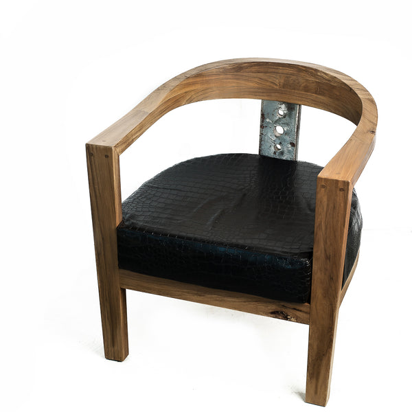 Nassara Design Armchair Po-Steel On the Back Wood Brown