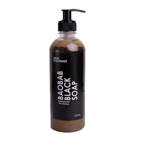 SKIN GOURMET Baobab Black Soap with Wild Honey (500 ml)