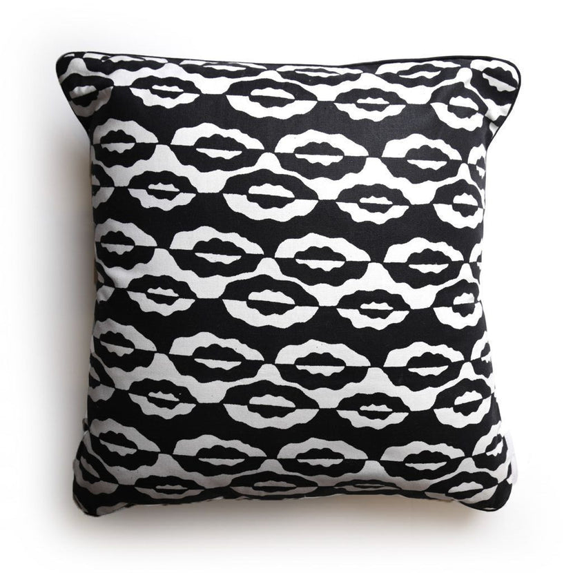 Margouillat Couture Cover pillow Bogolan Clouds