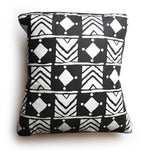 Margouillat Couture Cover Pillow Bogolan Square