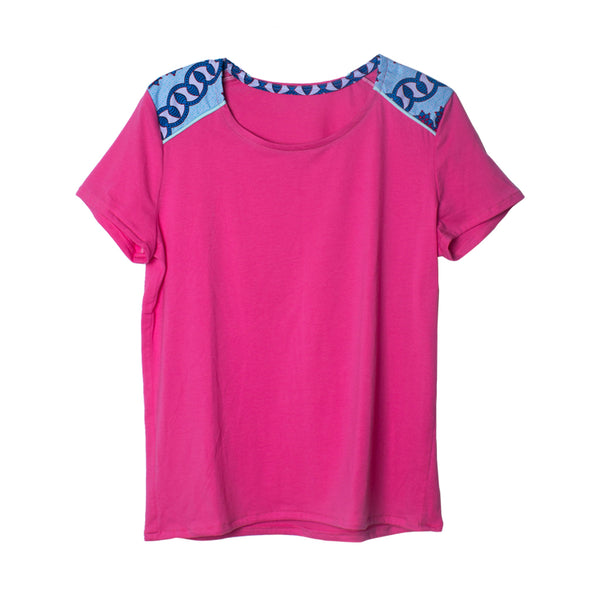 Iniva T-Shirt Woman Pink Blue