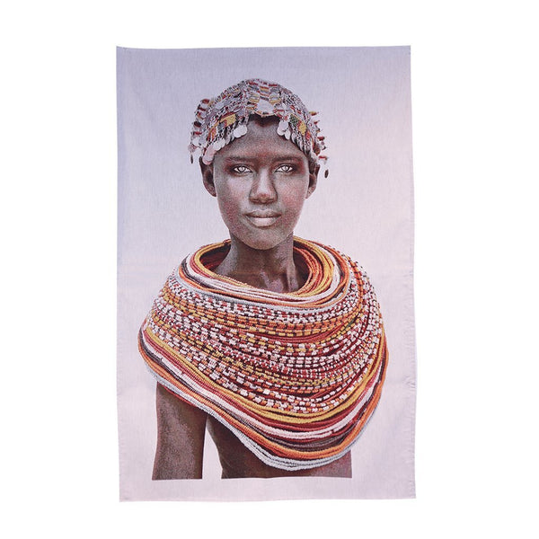 FS Home Wall Hanging  Samburu Girl White