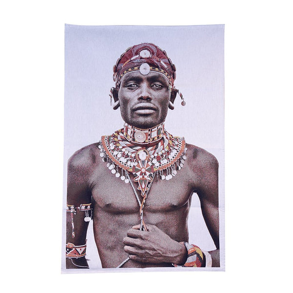FS Home Wall Hanging Samburu Man White