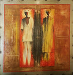 Ignace Nikoue Oil Painting on Steel Medium
