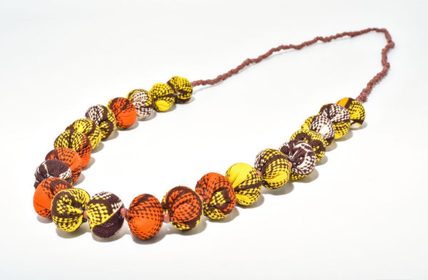Iniva Market Fabric Necklace Big Ball