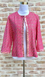 Margouillat Couture Jacket Woman Byblos Paillette Pink Green Pink