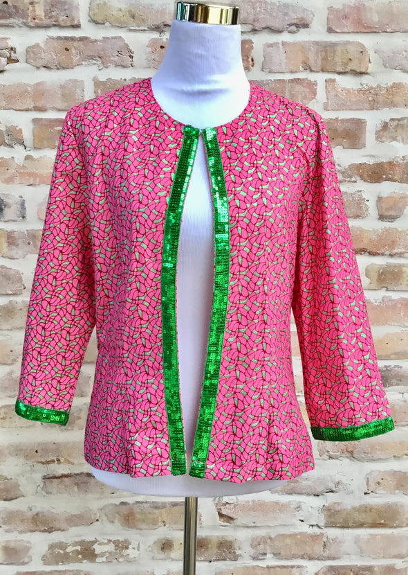 Margouillat Couture Jacket Woman Byblos Pink Green Pink