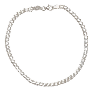 DOUBLE CHAIN LINK STERLING SILVER anklet