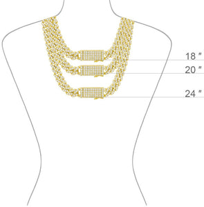 CUBAN LOCK GOLD necklace