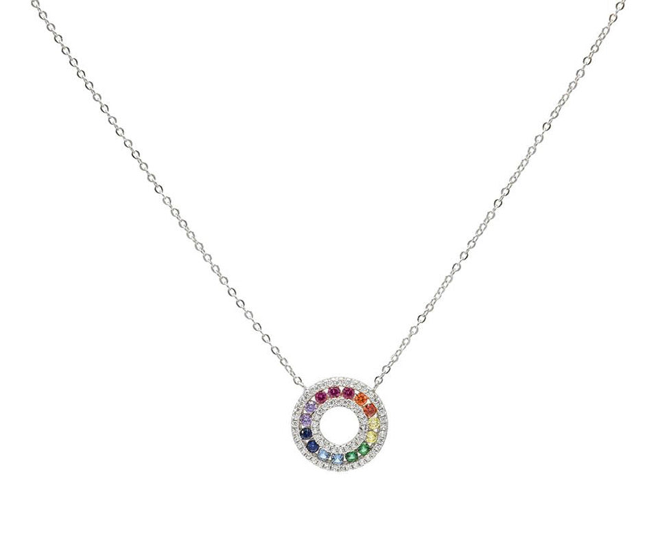 CIRCLE RAINBOW II necklace