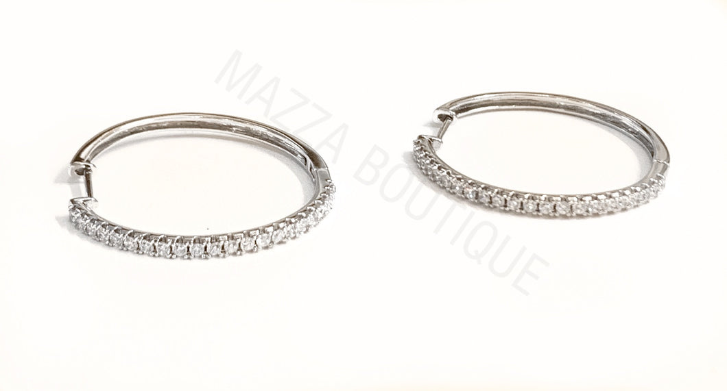 SILVER GP HOOP earrings