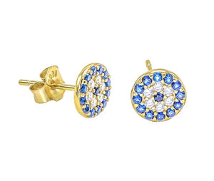 EVIL EYE CIRCLE STUD earrings