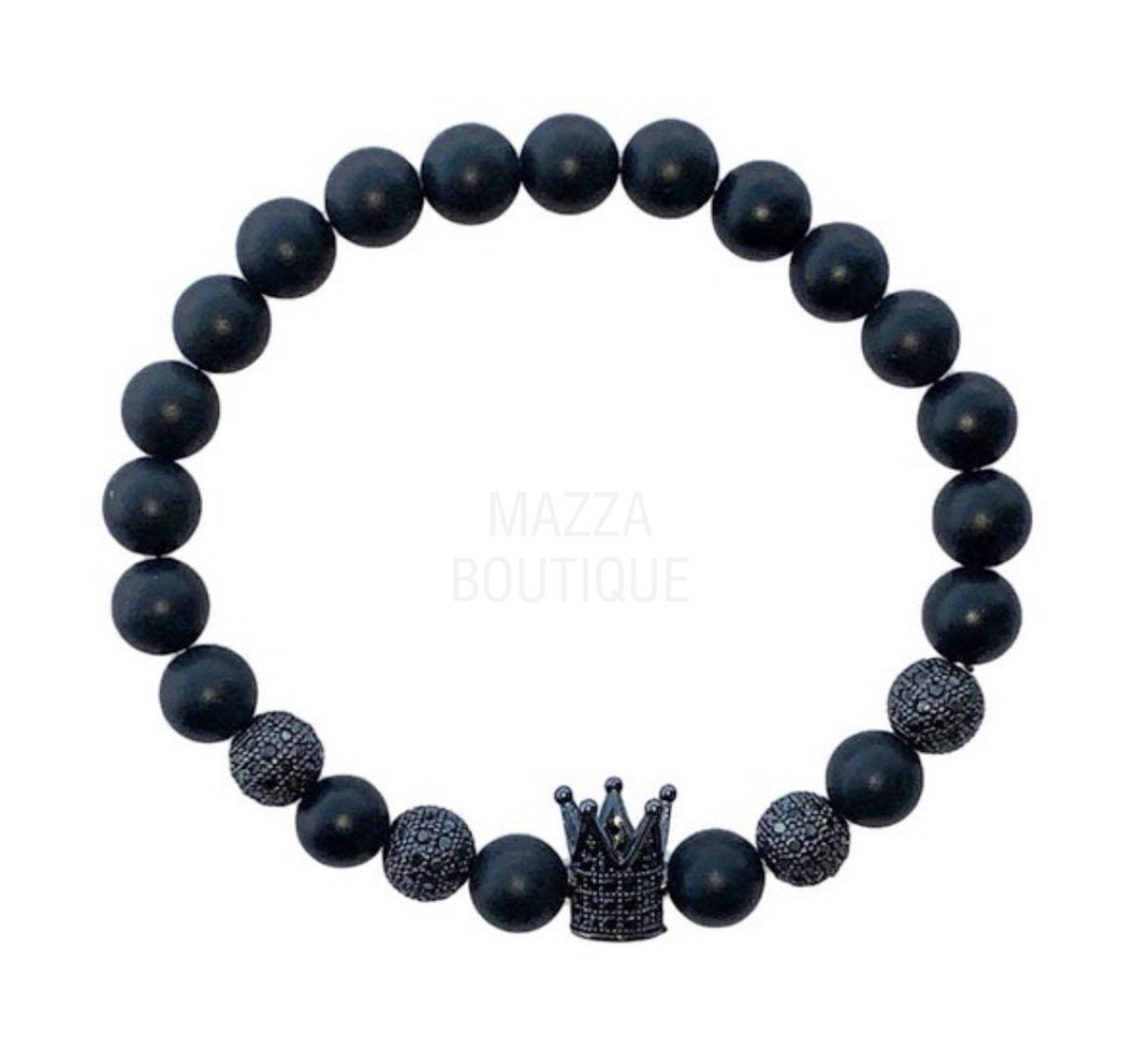 KING BLACK BEAD bracelet