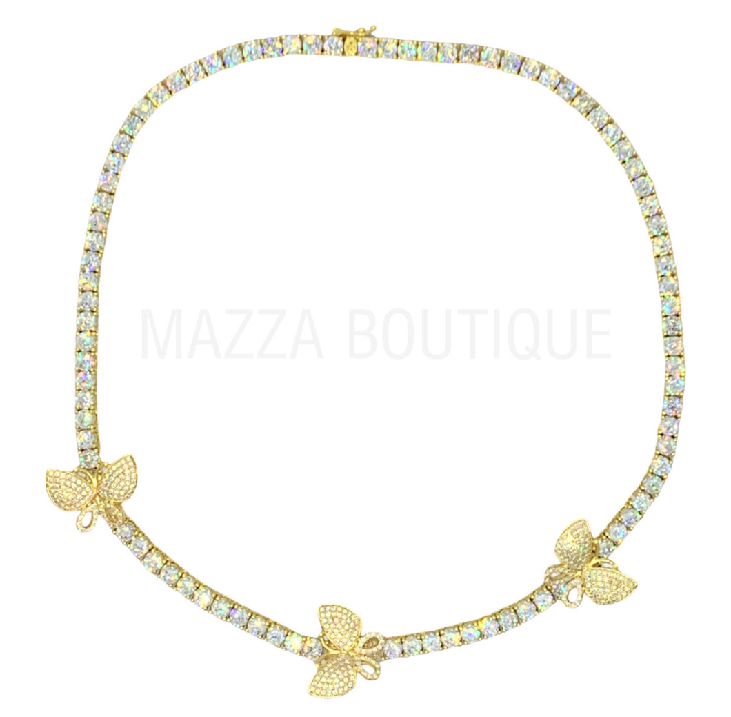 BUTTERFLY GOLD TENNIS necklace