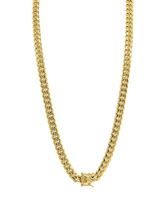 THE CUBAN STEEL 8mm chain