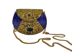 BLUE GOLD STONE handbag