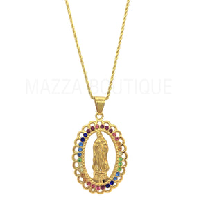 VIRGIN MARY RAINBOW necklace