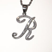 Load image into Gallery viewer, INITIAL CURSIVE STEEL necklace