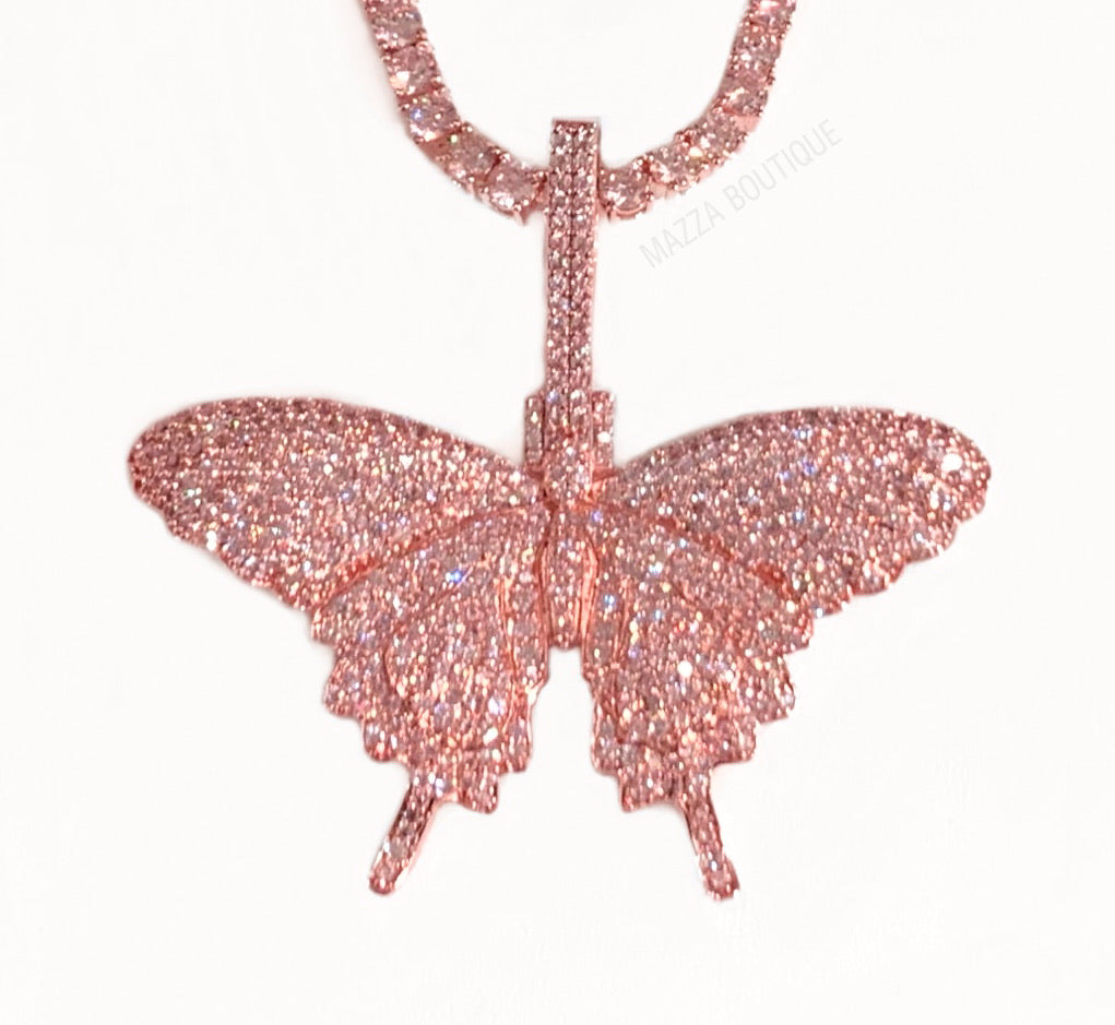 BUTTERFLY EFFECT PINK necklace