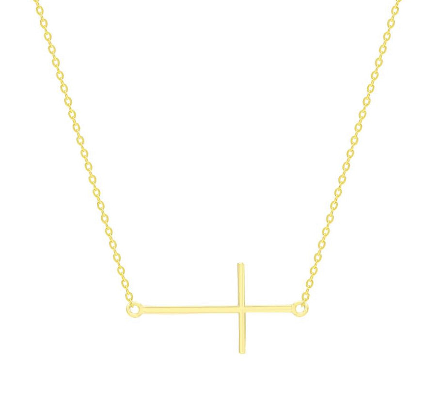 CROSS SIMPLE SIDEWAY necklace