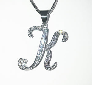 INITIAL CURSIVE STEEL necklace