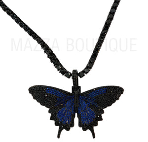 BUTTERFLY MIDNIGHT BLUE necklace