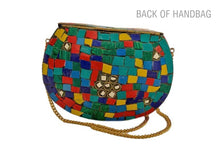 Load image into Gallery viewer, MULTICOLOR STONE handbag