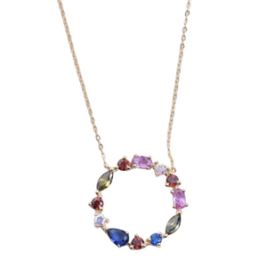 CIRCLE RAINBOW necklace