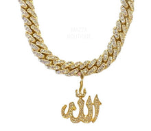 Load image into Gallery viewer, CUSTOM CRYSTAL ALLAH GOLD necklace