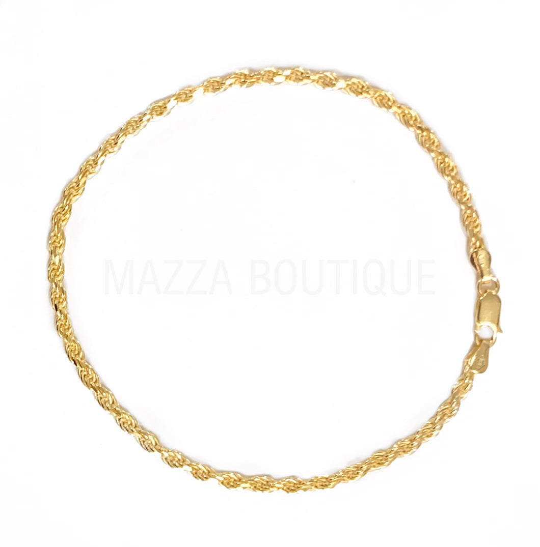ROPE THICK GOLD SS anklet