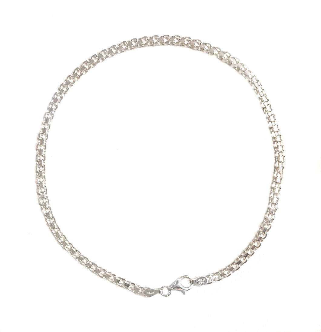 DOUBLE CIRCLE STERLING SILVER anklet