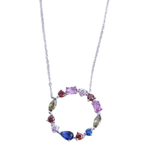 Load image into Gallery viewer, CIRCLE RAINBOW necklace