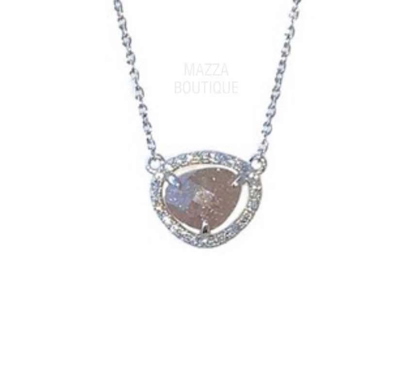 GLITTER STONE necklace