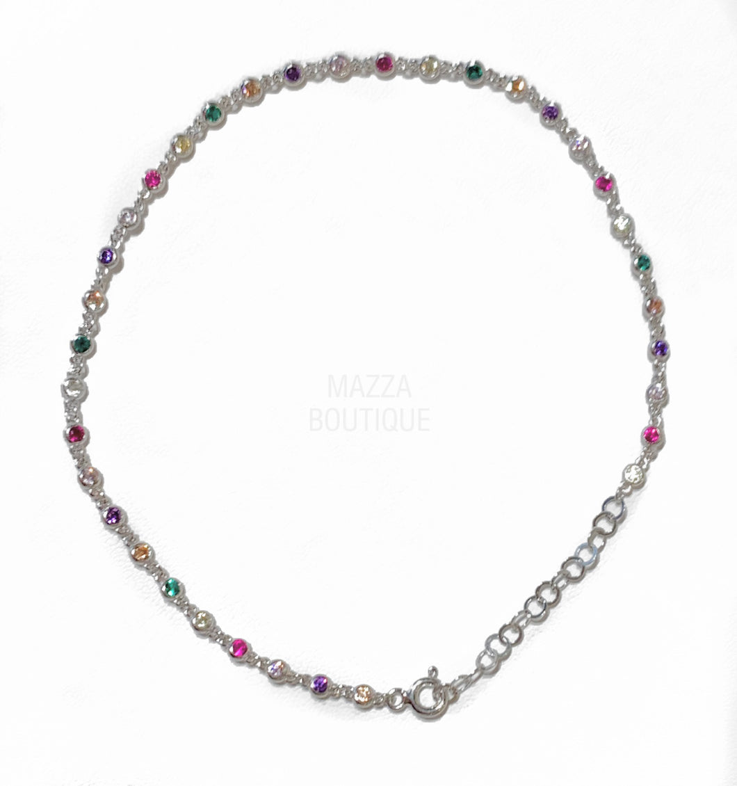 JEWEL STERLING SILVER anklet