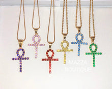 Load image into Gallery viewer, ANKH PURPLE necklace