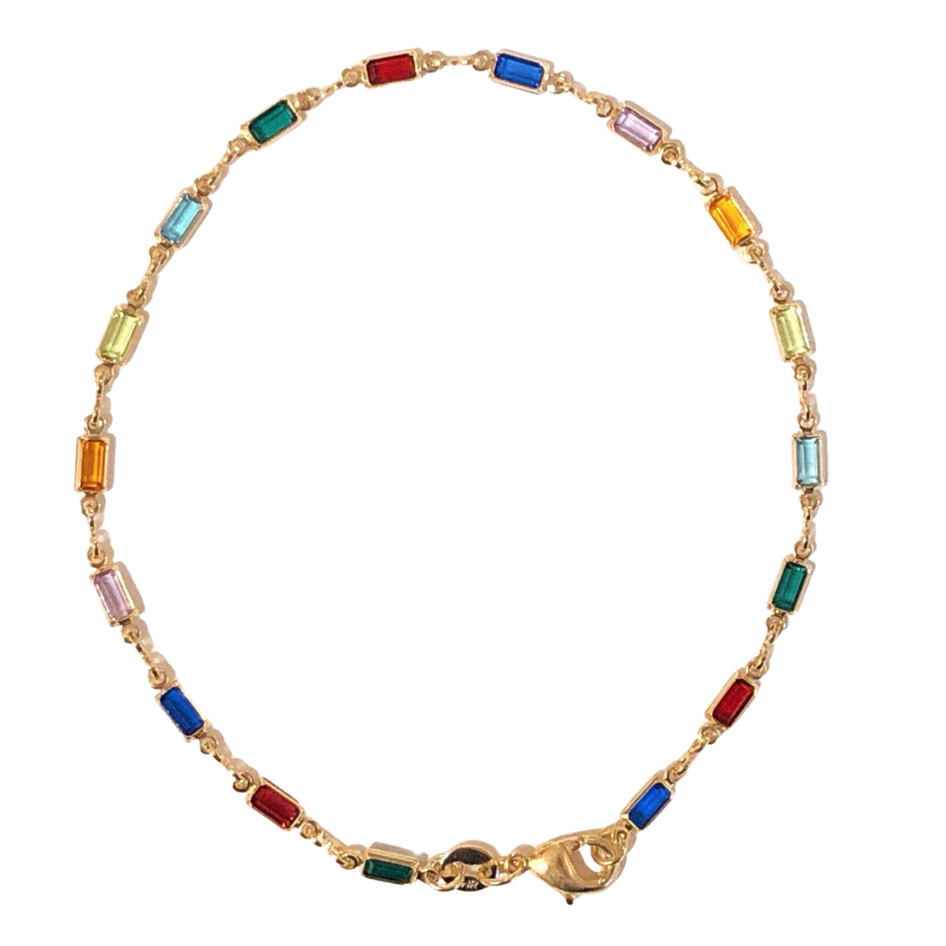 RAINBOW JEWEL GF anklet