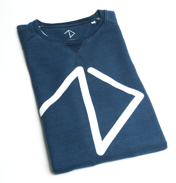 Logo Sweatshirt men - Denim Blue - One More Brand