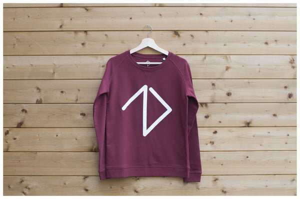 Logo Sweatshirt men - Burgundy - One More Brand