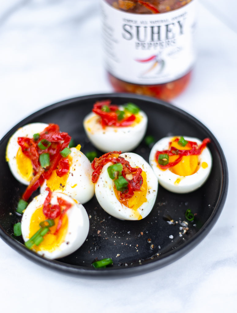 Recipe: Jammy Soft-Boiled Eggs with Peppers