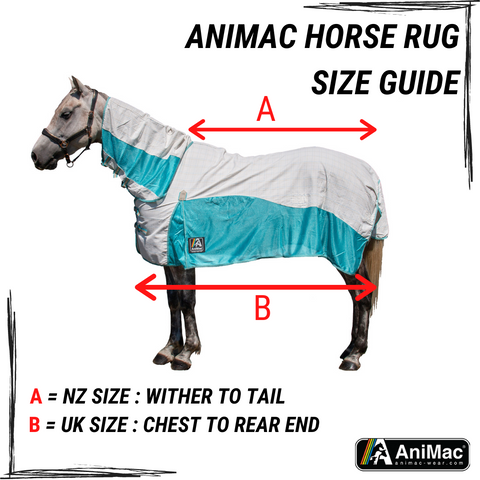 AniMac Horse Rug Size Guide