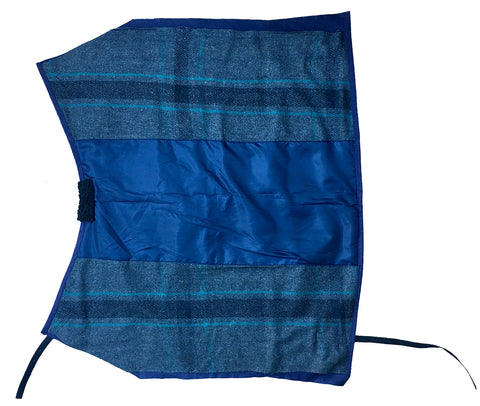 AniMac Calf jacket canvas calf blanket with wool lining in blue
