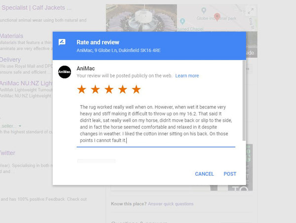 AniMac Google Review