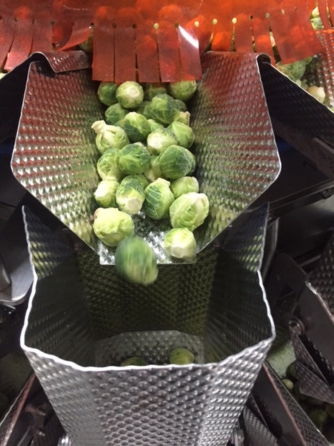Brussels sprouts packaging at cornerstone premium foods